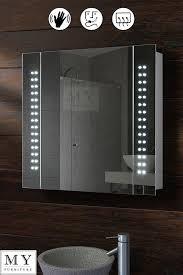 Illuminated Bathroom Mirror - best 90 led illuminated bathroom mirror cabinet shaver socket