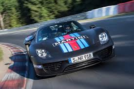 fastest porsche porsche 918 spyder fastest production car around nurburgring w
