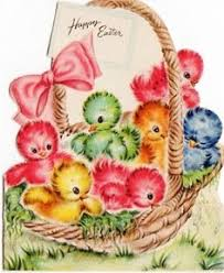 vintage easter baskets easter basket of not exactly ducklings but whatever their