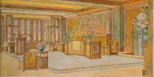 the weekly wright up the martin house library c1910