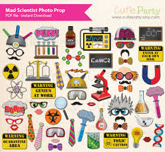 mad scientist party booth prop printable children by cutieparty