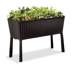 amazon com keter easy grow patio garden flower plant planter