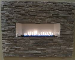 interior pleasant neutral stone wall with fascinating modern fireplace liners design plus contemporary gas fireplace concept design find the rig