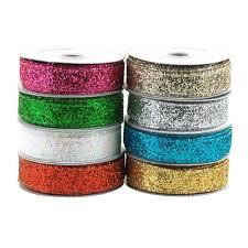 sparkling glitter ribbon wired edge 5 8 inch