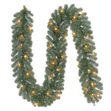 lowes artificial christmas trees with lights shop holiday living 10 in x 9 ft pre lit indoor outdoor ellston pine
