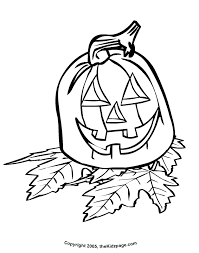 jackolantern with leaves free coloring pages for kids