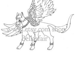 hand drawn mythical armored wolf coloring coloring