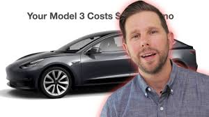 tesla model 3 monthly cost youtube