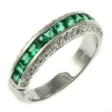 white gold eternity ring 18ct white gold 0 78ct emerald 0 40ct diamond eternity ring