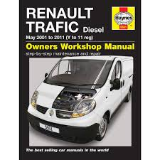 renault trafic 1 9 2 0 diesel 2001 2010 y to 10 reg haynes manual