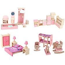 amazon com peradix wooden doll house furniture play kitchen set