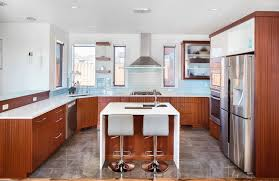 u shaped kitchen designs with breakfast bar window treatment ideas