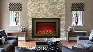 Large Electric Fireplace Zc Fm 37 Zero Clearance Electric Fireplace Sierra Flame