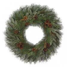 bay leaf wreath 30 inch mixed pine wreath with bay leaf incense cedar c 60710