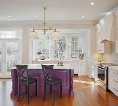 traditional kitchen islands kitchens traditional kitchen island in purple with a white top