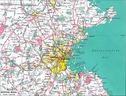 Map Of Boston Harbor by