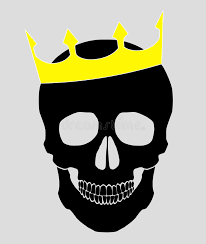 skull with crown background illustration stock vector