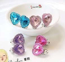 clip on earrings for kids 720 new arrival heart ear children clip