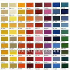 supply ral color code powder paints for industrial users view ral