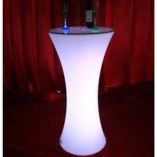 led light up rechargeable bar drink poser table