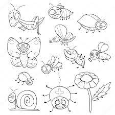 livre de coloriage avec des insectes  Image vectorielle jenpo5
