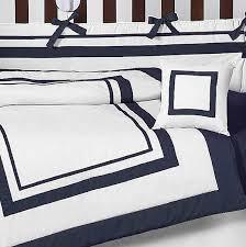 Jojo Crib Bedding Set Hotel White Navy Blue Baby Bedding Set By Sweet Jojo Designs 9