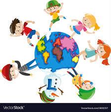 happy children around the world royalty free vector image