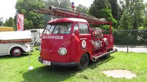 volkswagen bug truck 1955 volkswagen fire truck t1 pt2 lubbeek 2013 youtube