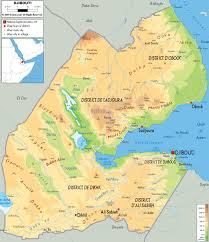 Map Of Africa Physical by Maps Of Djibouti Map Library Maps Of The World