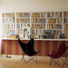 bookshelf printed wallpaper that lets you have an extensive