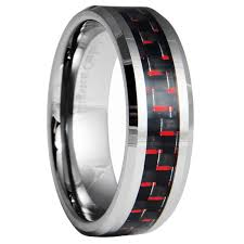 carbon fiber wedding rings 8mm tungsten carbide black carbon fiber wedding band ring