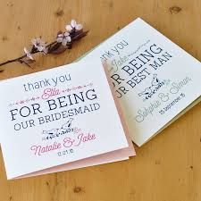 couple flip wedding party thank you cards paper set two different