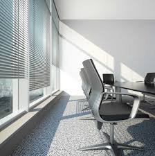 using pretty sliding glass door blinds as the smart window office