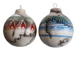 navajo eatched hair pottery ornaments american arts