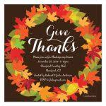 thanksgiving invitation templates thanksgiving leaf wreath