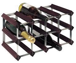 bottle traditional wooden wine rack 4x2