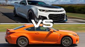2016 lexus rc f quarter mile 2018 chevrolet camaro zl1 vs 2016 lexus rc f youtube