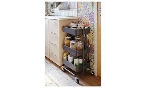 råskog utility cart raskog home kitchen multipurpose storage utility cart dark gray