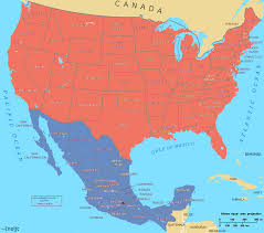 Mexico Wall Map Us Mexico Map Usa And Mexico Wall Map Maps Blank United States And