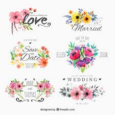 for wedding set of watercolor floweryfor wedding vector free