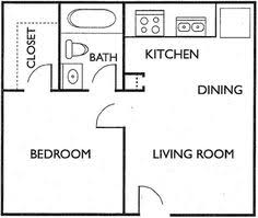 Small Apartment Floor Plans One Bedroom One Bedroom House Plans One Bedroom Floorplans Find House