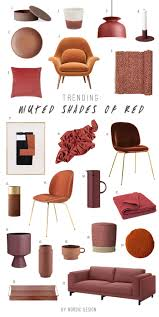Shaeds Of Red by Trending Muted Shades Of Red Nordicdesign