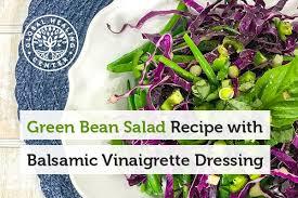 green bean salad recipe with balsamic vinaigrette dressing