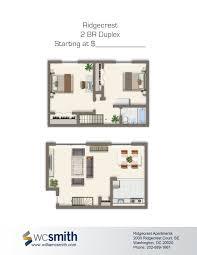 2 bedroom duplex plans ridgecrest village wc smith