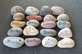 wishing rocks for wedding wishing stones