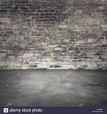 Dark Brick Wall Background Empty Abstract Interior Background With Dark Old Brick Wall And