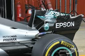 mercedes barcelona mercedes f1 team tests t wing at barcelona