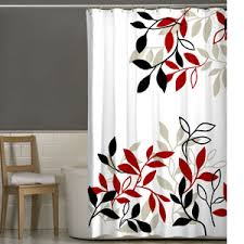 red and black shower curtain red black and white shower curtain