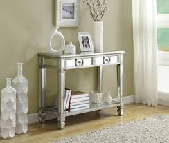 Vanity Fair Bra 75392 Monarch Specialties Mirrored 38 Sofa Console Table With Drawers