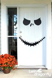 jack skellington door with free printable dragonfly designs